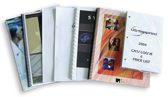 Printer in Montreal, brochures, spiral binding