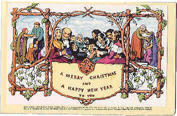 La première carte de Noël, imprimée en 1843.